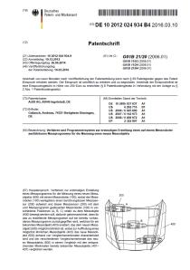 Patent Offenlegung